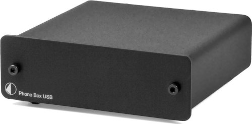 Pro-Ject Audio - Phono Box USB - MM/MC Phono preamp with line & USB outputs - Blk