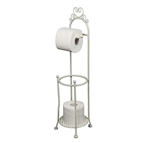 Ambiente Haus Increto 95331 - Portarotolo in ghisa laccata con porta rotolo e contenitore per WC