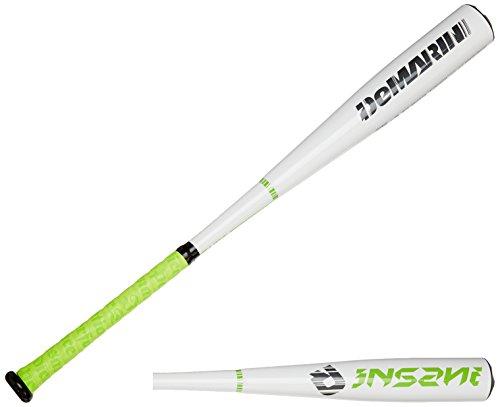 DeMarini 2015 Insane BBCOR Baseball Bat, 33-Inch/30-Ounce, White/Green