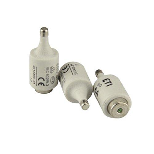 Sicherungspatrone D II, E27, 500V, 10A, 5 Stück