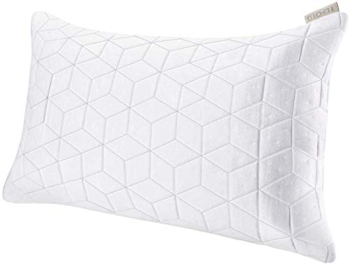 TEFOTO Kopfkissen Memory Kissen weich Nackenkissen Baumwolle Schlafkissen waschbar Mikrofaser Pillow großes Sofakissen aus Bambusfasern mit Reißverschluss, Memory-Schaum und Kissenbezug