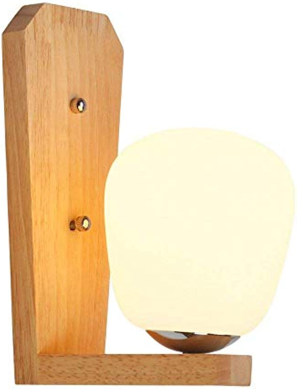 LiL Nordic Kreative Wandleuchte Personalisierte Nachttischlampe Moderne Minimalistische Schlafzimmer Massivholz Wandleuchte E27