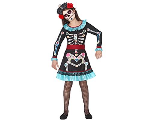 ATOSA disfraz esqueleto colorido niña infantil 10 a 12 años