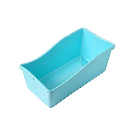 GAONA Plegable Portátil De Bañera De Hidromasaje, Remojo Bañera De Hidromasaje Bañera con Patas, Azul 76 * 42 * 32cm (Color : Blue)