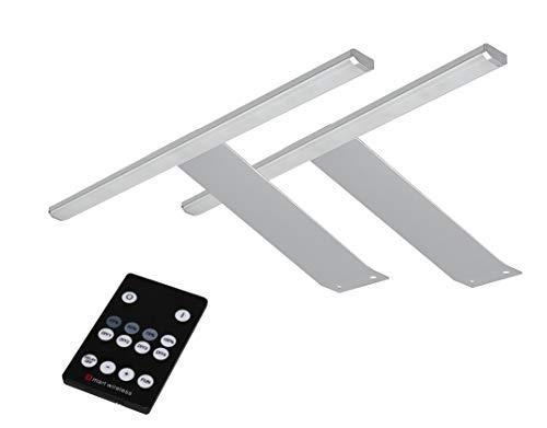 LED Aufbauleuchten 2-er Set + Fernbedienung warmweiß /2185-2/4154möb/ Schrankleuchte Möbelbeleuchtung