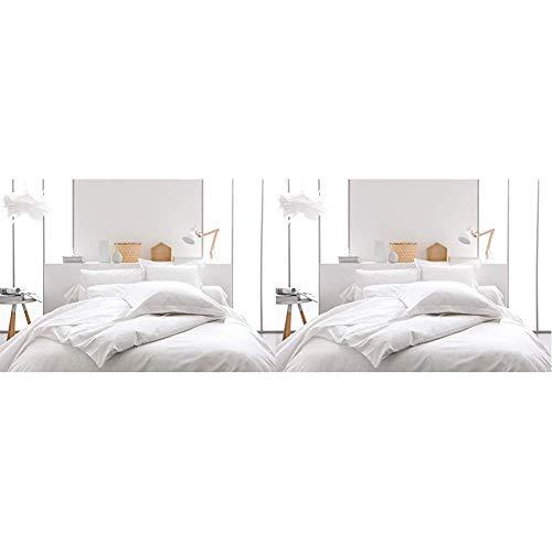 Today 201401 Housse de Couette Coton, Chantilly, 240 x 220 cm & 201201 Drap Housse Coton - Blanc (Chantilly) - 200 x 160 cm