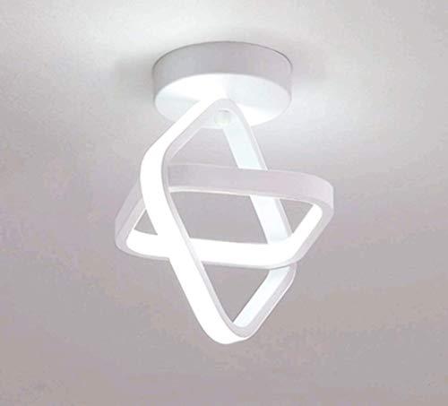 Goeco Lámpara de Techo Lámparas de araña, Plafón LED geometría Cuadrada 22W, Plafón LED Techo para Armario Pasillo Balcón, Luz Blanca fría 6000K, 22cm (Blanco)