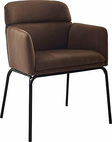 Armlehnstuhl Stuhl Sessel Vejen | Löhne Möbeldiscount (Braun, 63 x 84 cm)