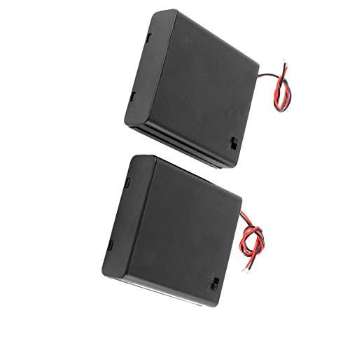 Aexit 2 Stück 4 x AA 6V - Batteriehalter - Gehäuse - Box Kabel - EIN / AUS - Schalter mit Abdeckung (9994e4e133e2df7a9b292f5266694eb3)