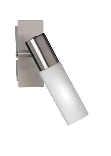 Wofi Wandleuchte-Katar, 1-flammig, Nickel-matt, Höhe : 13 cm, Ausladung : 19 cm, 4521.01.64.0000