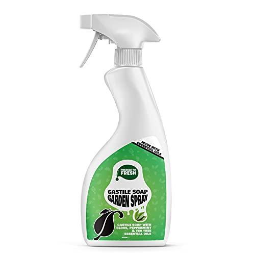 PRESSED TO FRESH – Castile Soap Garden Spray - Natural Leaf & Insect Treatment – Kills Aphids &...
