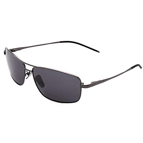 KK Zachary Gafas De Sol UV400 Doradas Negras Gafas De Sol De Aleación De Titanio Polarizada Gafas De Sol Adultas (Color : Black)
