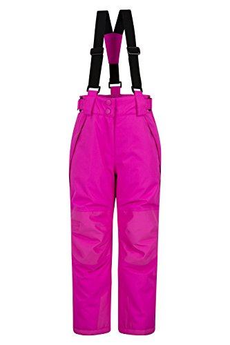 Mountain Warehouse Falcon Extreme Skihose für Kinder - Winterhose, Schneehose, wasserfeste Kinderhose, Schneegamaschen, Sicherheitstaschen- Für Skiurlaub leuchtendes Pink 5-6 Jahre