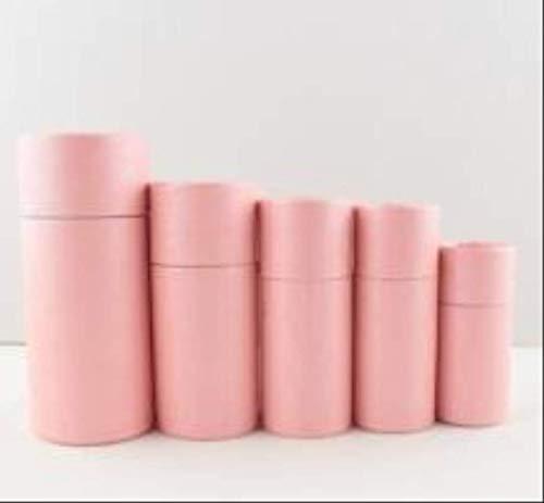 FHFF Kraft papieren tas 6 kleuren kleine kraft papier kartonnen doos voor cosmetische etherische olie pakket doos ronde parfum fles binnen 9.4X3.4Cm 30Ml roze