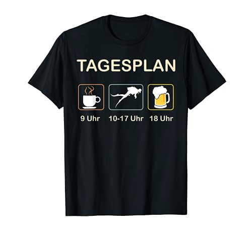 Tauchen Tagesplan lustig T-Shirt