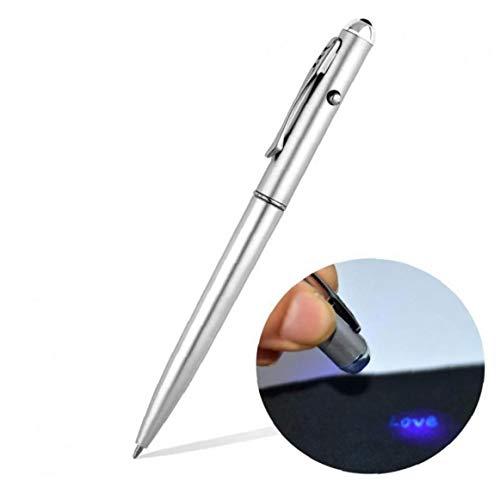 AYRSJCL Bürobedarf-Material Escolar Schulbedarf unsichtbare Tinten-Feder mit UV-Licht magischen Geheimnis Kugelschreiber Großhandel