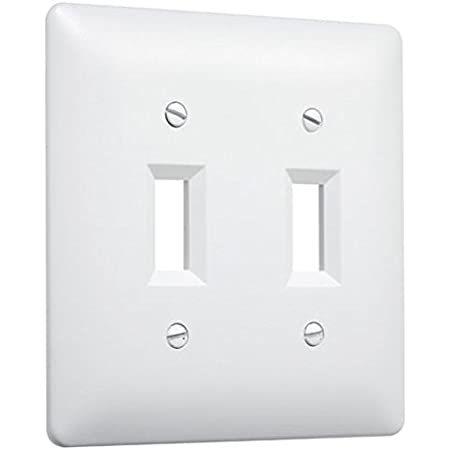 Taymac 4400w Paintable Double Toggle Light Switch Wall Plate Cover White 2 Gang Taymac Outlet Cover Amazon Com