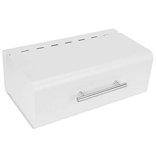 Caixa de pão branco de leite para bancada de cozinha, recipientes de armazenamento multiuso para bancada de cozinha, 14,3 x 5,7 x 9,1 pol.