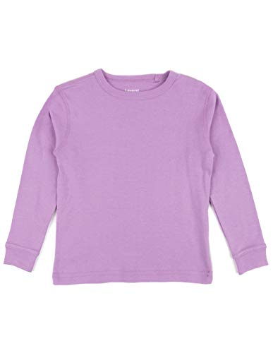 Leveret Long Sleeve Solid T-Shirt 100% Cotton (5 Years, Purple)