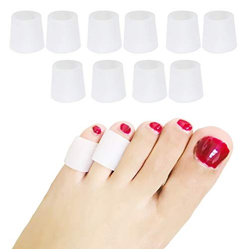 Protectores de dedos de los pies de gel suave, 5pares/lote, protectores para dedos, cojín eliminador de callos y juanetes