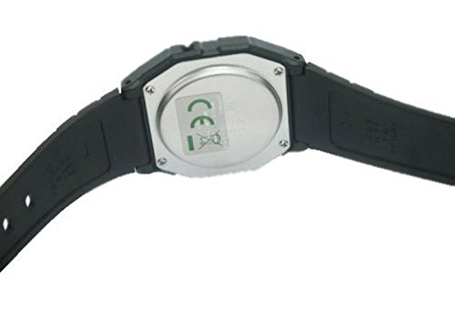 Casio Unisex Watch in Resin/Acrylic Glass with Date Display and LED Light - Water Resistance & Alarm