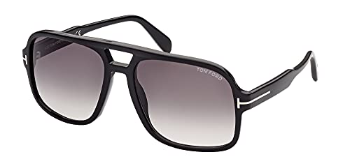 Tom Ford Gafas de Sol FALCONER-02 FT0884 Shiny Black/Grey Shaded 60/18/140 unisex