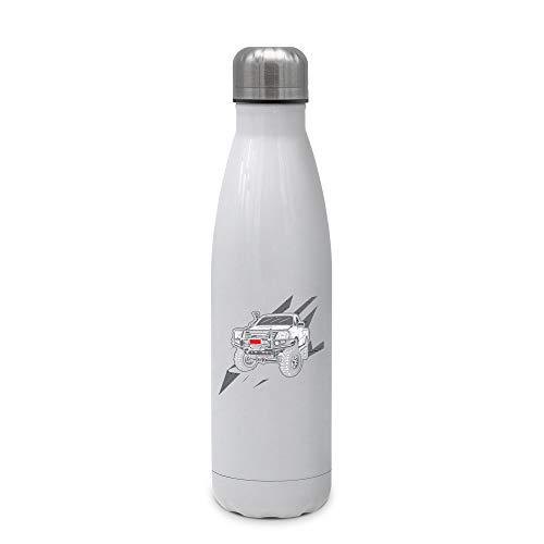 SPIRITSHIRTSHOP Range Rover | Thermo-Trinkflasche Thermosflasche Trinkflasche aus hochwertigem Edelstahl | 500ml Füllvolumen | Heiß und Kalt leichte Reinigung