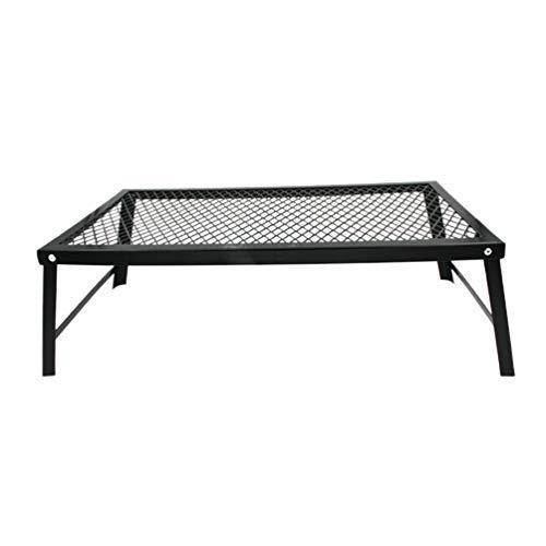 Garneck Table de Pliage Portable Trou de Camping en métal Table de Pliage Table de Barbecue Table de Pique-Nique pour Les Voyages en Plein air Cuisson Barbecue