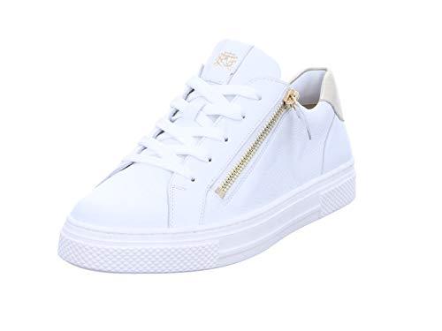 Hassia Damen Bilbao Sneaker, Weiss/Platin, 42 EU