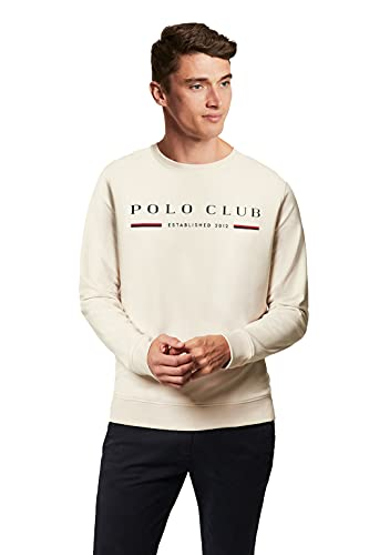 POLO CLUB Sudadera Organic Pattern Beige para Hombre