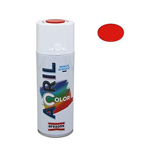 Arexons - Vernice acrilica spray colore rosso traffico RAL 3020 (Ducati - Honda - Beta), 400 ml, (3938)