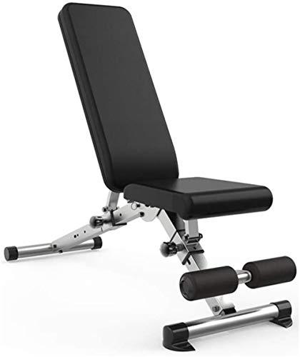 Abcoll Fitness-Bank, Sit Up Bench faltbar, Fitnesstraining Flachbank für Ganzkörpertraining Heavy Duty Einstellbare, Flacher Neigung Decline Multiuse Übung für Home Gym