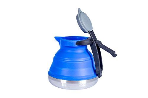 Cao Bouilloire Silicone Bleu 1, 2 litres Rétractable H 14 cm ø 15 cm 1,2 Mixte Adulte