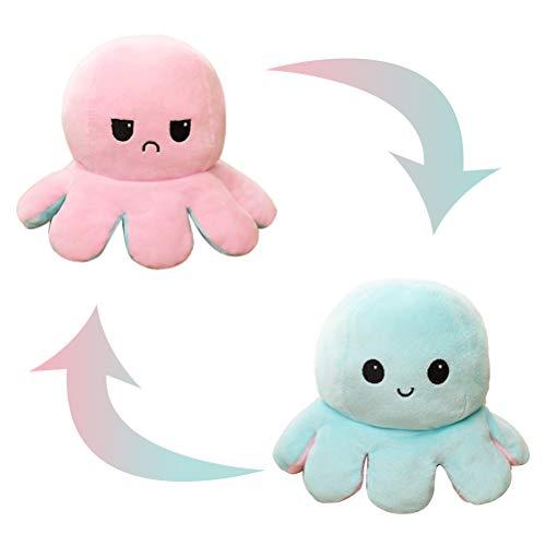 NOEARR Octopus Reversible Plushie - Plüsch Emotion Stimmung Octopus Toy Flip Moody Happy Sad Angry von innen nach außen