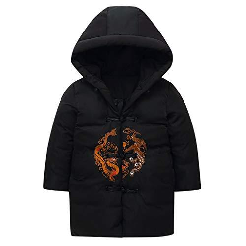 Sannysis Chinesische Stickerei Mantel Winter Steppjacke Kinder Jungen Mädchen Jacke Warme Coat Kapuzenmantel Baby Daunenjacken Winterjacke...