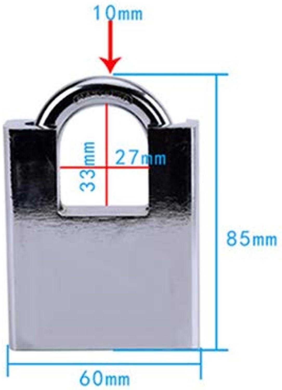 1PCS keyed Padlock Galvanized Iron Lock Anti  Theft Waterproof dust pry Security Lock Door Warehouse Dormitory Padlock  (color  Nickel)