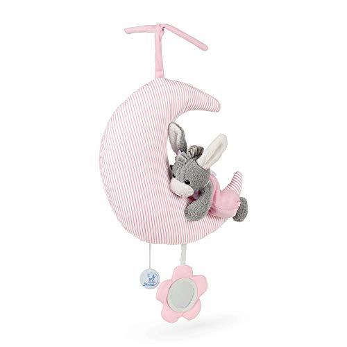Sterntaler 6021978 Baby Spieluhr L Emmi Girl auf Mond - aus über 100 Melodien ein Spielwerk wählen (*** Melodie Hush little Baby)
