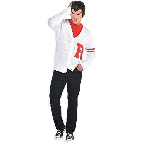 Mens Grease Rydell Letterman Costume Sweater, White, Standard