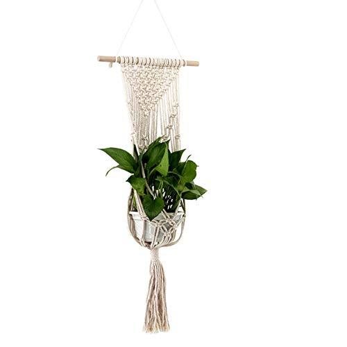 Swide Colgador para Plantas, Macramé para Macetas Exquisito Plantas De Macramé, Cuerda De Algodon,Tejidas A Mano, para La Decoración del Jardín del Balcón Refined Sturdy