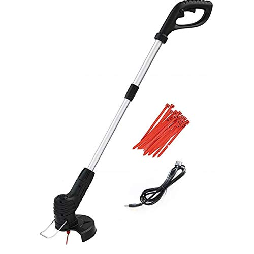Grass Trimmer Lightweight Electric Cordless Garden Weed Strimmer Cutter...