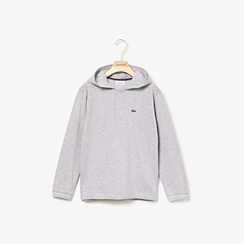 Camisa polo com capuz, Lacoste, Criança-Unissex, Cinza Mescla, 1