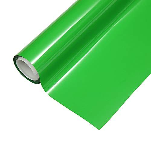 "Heat Transfer HTV Vinyl,12"" x 6.5 FT HTV Vinyl Rolls, Fluorescent Color,for Decor Sticker, Weeding Machine, Craft Cutter Machine, Printers, Letters, Car Decal, Vinyl Paper (Fluorescent Green)"