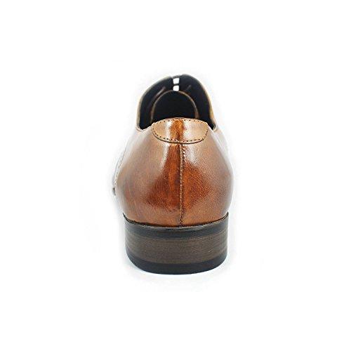 Fulinken Men Genuine Leather Oxford Shoes Lace up Slip on Boots Brogue Shoes Formal Dress Shoes(8 D(M) US, black)