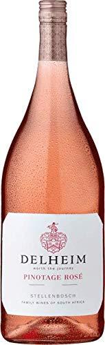Delheim Pinotage Rosé Coastal Region Rose Wein trocken Südafrika 1,5 l Magnumflasche (12 Flaschen)