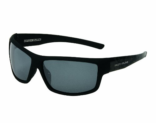 Body Glove Huntington Beach Polarized Sunglass, Smoke Polarized with Silver Mirror Flash/Matte Black Rubberized