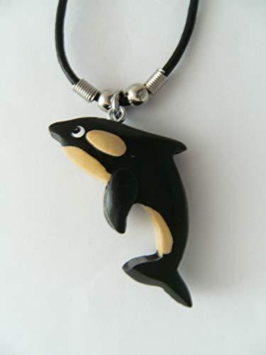 Unbekannt Kette Schwertwal, Holzanhänger Ketten Modeschmuck Wale Fische Tiere Tier Orca