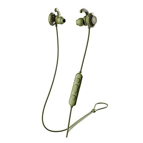 Skullcandy Method Active Kabellose Magnetische Kopfhörer, In-Ear Bluetooth mit Mikrofon, 10 Stunden Akkulaufzeit mit Rapid Charge, Secure-FitFin-Gelaufsätze, Wasserfest (IPX7), Moos/Oliv/Grün