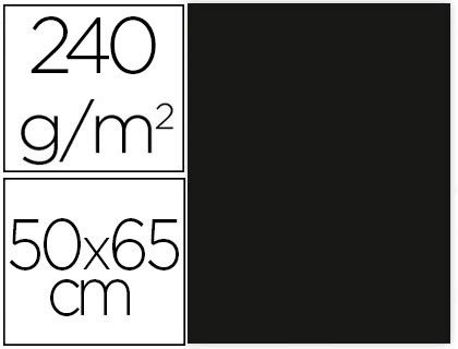 Liderpapel Cartulina 50 x 65 CM 240G/m² Negro