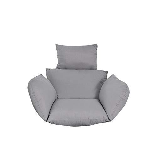 Farmer-W schommelstoelkussen om op te hangen, wasbare zitkussen voor de hangmat, hangstoel, dikke rugleuning met kussen