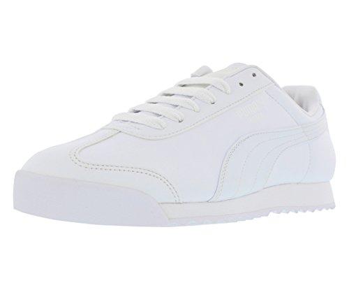 PUMA Men's Roma Basic Sneaker White/Light Grey 10.5 M